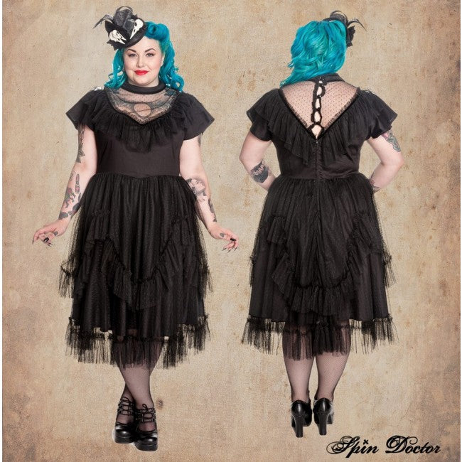 Gothic mesh Augustine dress - PLUS SIZE