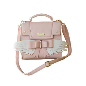 Pink Sakura magical sweetie satchel bag with angel wings