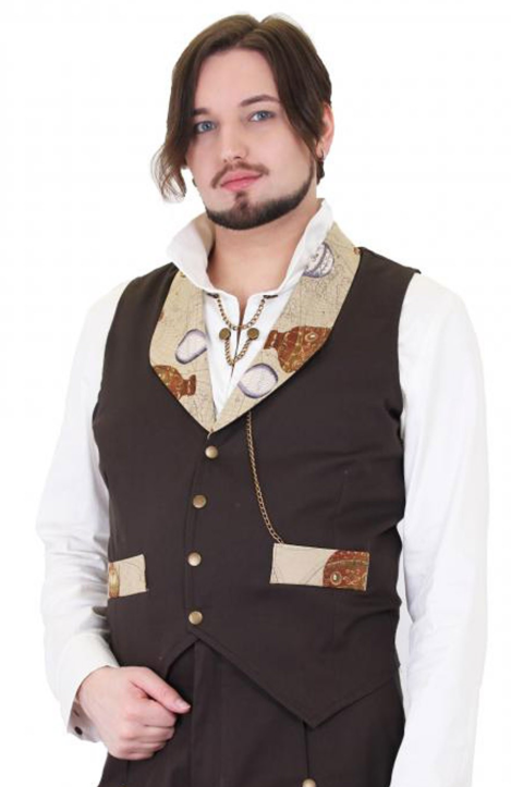 Hot Air Balloon Collar Steampunk Waistcoat
