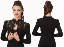 Load image into Gallery viewer, Gothic lace and knit stretch elegant bolero shrug