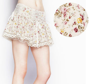 Barnaby lovely floral and lace sweet mini skirt