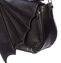 Load image into Gallery viewer, Bat wing Gothic over shoulder bag