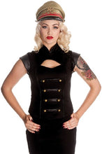 Load image into Gallery viewer, Black watch Steampunk military PVC sleeve top