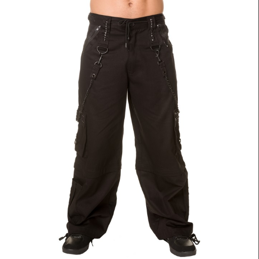 Black metal chain Rave cybergoth Pants Trousers
