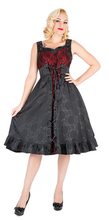 Load image into Gallery viewer, Gothic Brocade corseted vamp Swing Dress