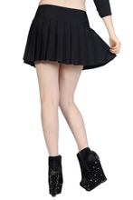 Load image into Gallery viewer, Buckle gothic black mini skirt