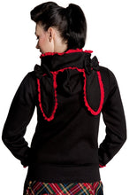 Load image into Gallery viewer, Gothic lolita fleece rabbit ears cute bunny hoodie - White or Red
