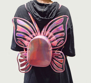 Hologram rave laser butterfly festival fairy wing backpack