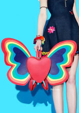 Load image into Gallery viewer, Rainbow butterfly heart fairy festival backpack