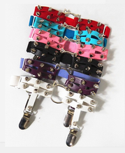 Load image into Gallery viewer, Sock Garter with kawaii Kitty Cat O-Ring and Spiked Studs