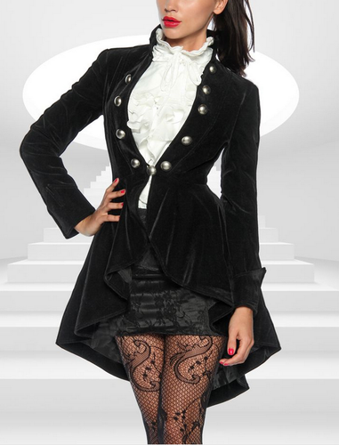 326614aa0e6 Velvet pirate victorian gothic steampunk asymmetry tailcoat jacket