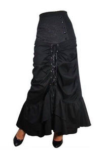 Elegant Gothic Lace up Long Skirt - Plus size 24
