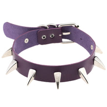 Load image into Gallery viewer, Claw spike wide collar metal studded punk gothic collar choker