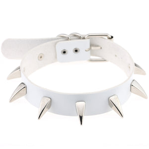 Claw spike wide collar metal studded punk gothic collar choker