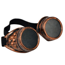 Load image into Gallery viewer, Goggles - steampunk cyber metallic antique finish - Copper, Brass, Gold, Silver