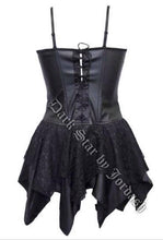 Load image into Gallery viewer, PVC goth fairy corset dress
