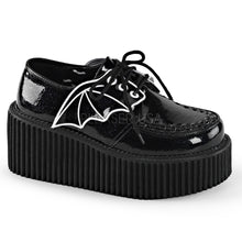 Load image into Gallery viewer, Creeper 205 - Bat wing glitter platform shoe