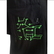 Load image into Gallery viewer, Cyber green circuitry cybergoth shirt