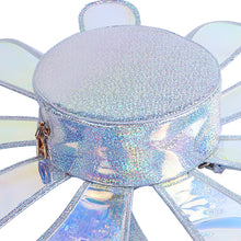 Load image into Gallery viewer, Daisy Rave hologram shiny flower shape backpack
