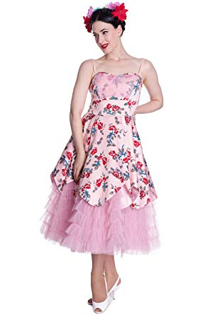 Pink Lady Floral party dress