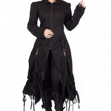 Load image into Gallery viewer, Desire long bustle up victorian gothic steampunk coat