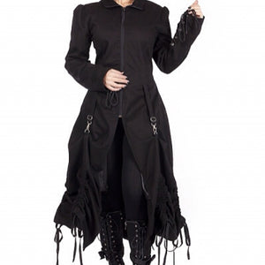 Desire long bustle up victorian gothic steampunk coat
