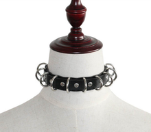 Load image into Gallery viewer, Multi D ring hardware gothic punk collar choker