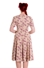 Load image into Gallery viewer, Eloise dragonfly pin up rockabilly retro dress LAST ONE- S