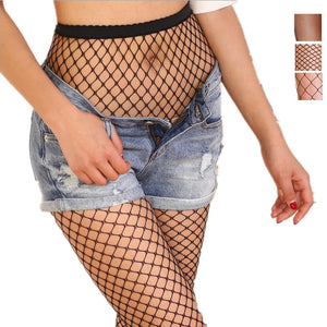 Fishnet pantyhose - full length fish net mesh tights  - Wine Red XS to XXL (8 to 20)