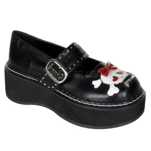 Emily 221- cute skull Mary Jane shoe-PRE ORDER