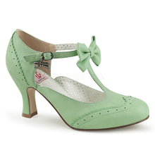 Load image into Gallery viewer, Flapper 11 - Mint rockabilly pinup kitten heel