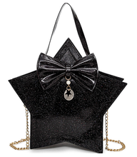 Load image into Gallery viewer, Sparkle glitter kawaii star handbag - Black or Navy - ULTRA CLEARANCE