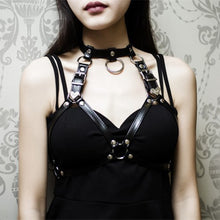 Load image into Gallery viewer, Heart collar cage PVC straps Body Harness