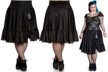 Load image into Gallery viewer, Henrietta gothic steampunk pirate buckle flared skirt - Plus Size