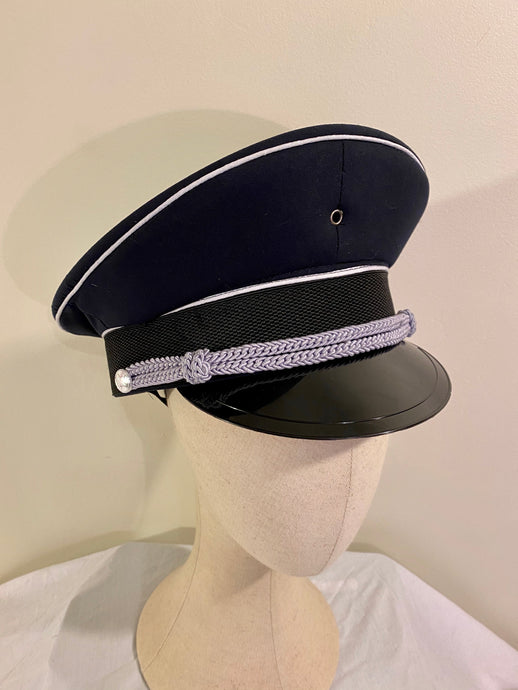 Military Hat - fetish gothic steampunk festival military captain officers cap - Navy/Grey/Black
