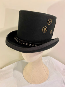 Decorated Classic Top Hat - cogs n gears gothic steampunk formal standard victorian Top Hat