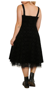 The Nightmare Before Christmas velvet Skellington gothic swing dress - Plus size (Limited Edition)