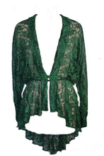 Load image into Gallery viewer, Lace elven goddess waterfall duster gothic jacket cardigan - Plus Size