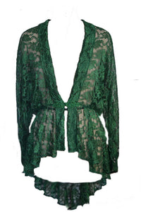 Lace elven goddess waterfall duster gothic jacket cardigan - Plus Size