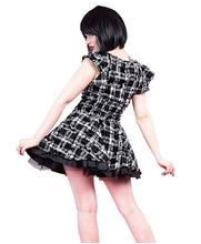 Load image into Gallery viewer, Plaid Punk Ruffled Mini dress