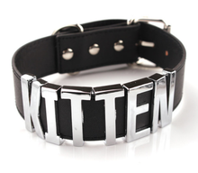 Load image into Gallery viewer, Kitten - cute gothic letter collar choker