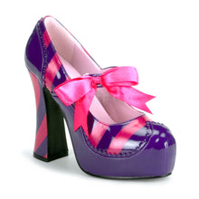 Load image into Gallery viewer, Kitty 32 - Pink, purple striped high heel shoe PRE ORDER