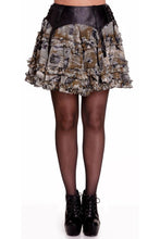 Load image into Gallery viewer, Luna steampunk gothic ruffled suspender skirt