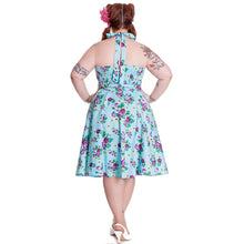 Load image into Gallery viewer, May day floral swing pinup rockabilly dress LAST ONE size 2XL