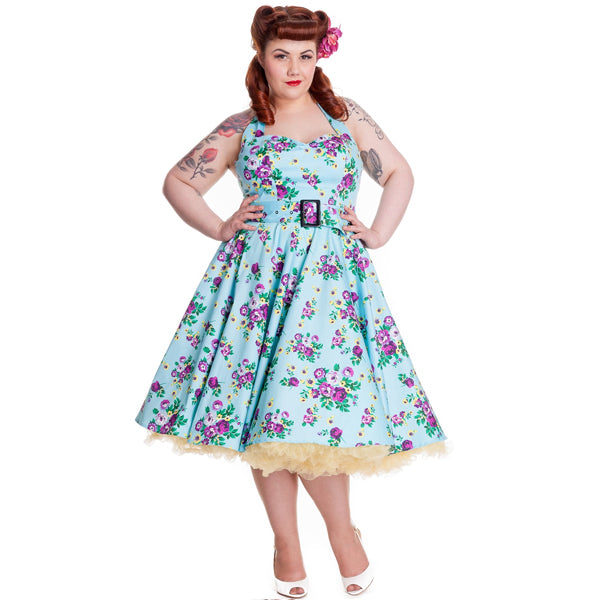 May day floral swing pinup rockabilly dress LAST ONE size 2XL