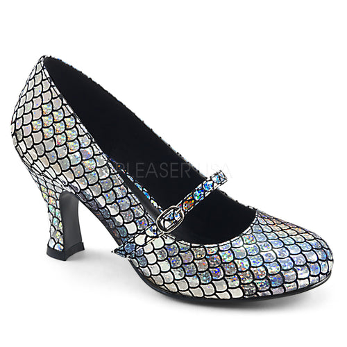 Mermaid 70 - Holographic silver scales sparkle heel PRE ORDER