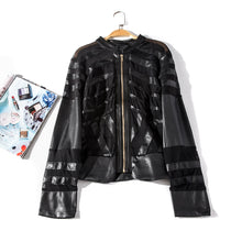Load image into Gallery viewer, PVC mesh sexy moto style gothic punk jacket coat - Plus Size