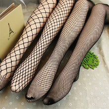 Load image into Gallery viewer, Fishnet pantyhose - full length fish net mesh tights  - Black XS to XXL (8 to 20)