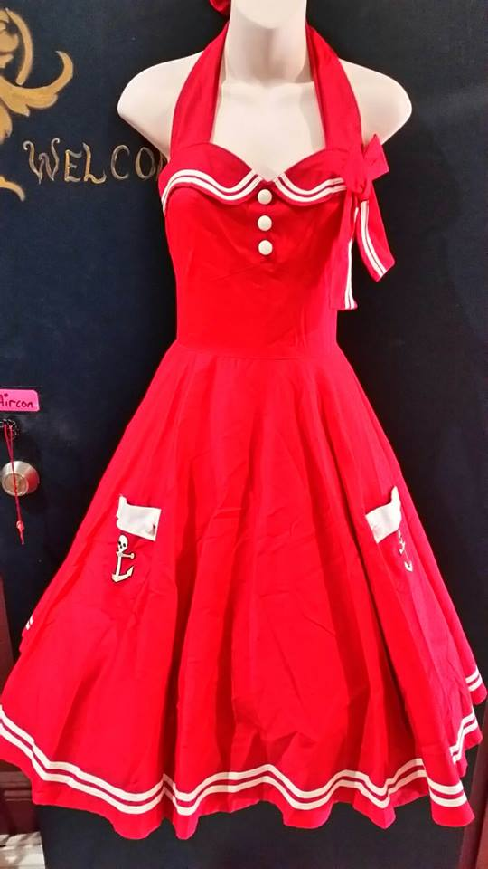 Motley sailor pinup rockabilly dress- S LAST ONE