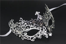 Load image into Gallery viewer, Metal filigree elegant gothic masquerade mask - Mystic